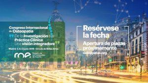 Congreso Internacional de Osteopatía 2018: Madrid & ROE